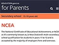 2019  Understanding NCEA website